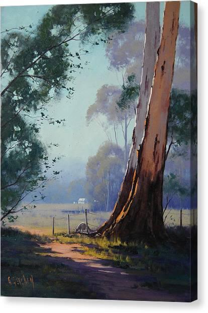 Kangaroo Canvas Print - Australian Farm Painting by Graham Gercken
