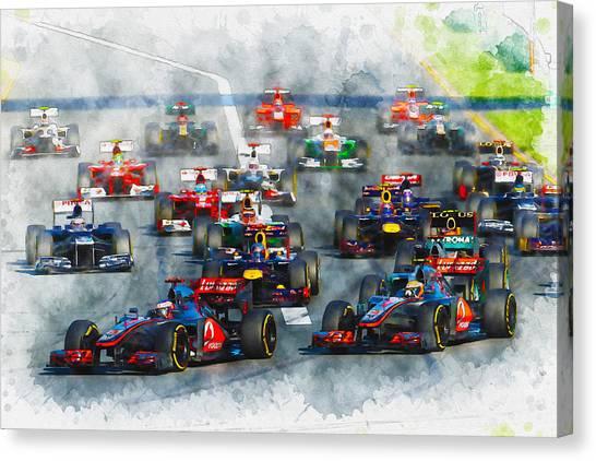 Australian Grand Prix F1 2012 Canvas Print