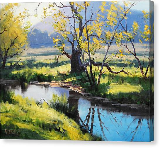 Brook Canvas Print - Australian River Painting by Graham Gercken
