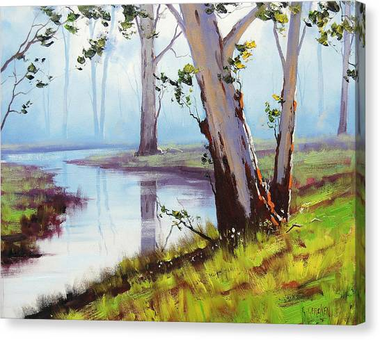 Brook Canvas Print - Australian Trees Painting by Graham Gercken