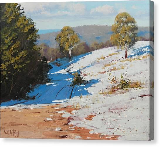 Frosty Canvas Print - Australian Winter Snow by Graham Gercken