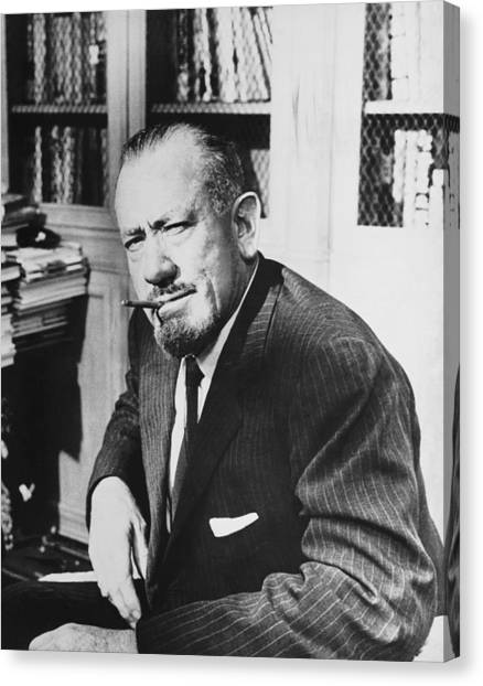 Citizen Canvas Print - Author John Steinbeck by Underwood Archives
