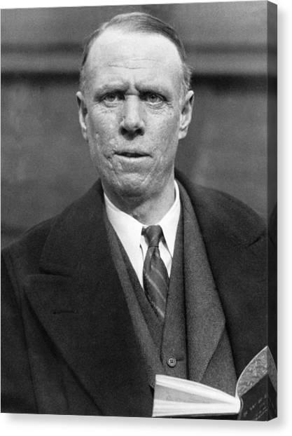 Nobel Canvas Print - Author Sinclair Lewis by Underwood Archives