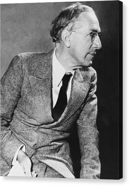 Democratic Politicians Canvas Print - Author Upton Sinclair by Underwood Archives