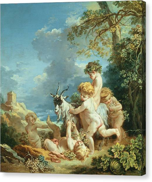 Rococo Art Canvas Print - Autumn, 1731 Oil On Canvas by Francois Boucher