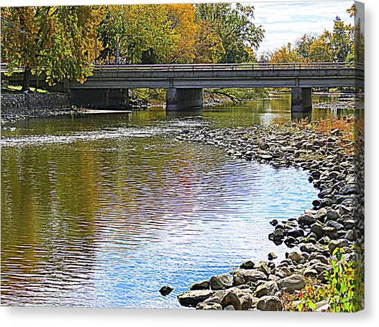 Autumn Along The Fox River Canvas Print