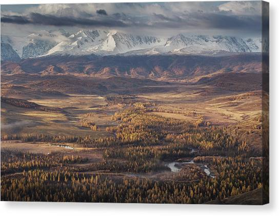 Autumn Altai Mountains Canvas Print by Dmitry Kupratsevich