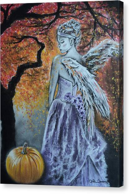 Angel Falls Canvas Print - Autumn Angel by Carla Carson