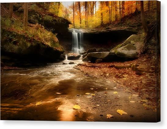 Autumn At Blue Hen Falls Canvas Print