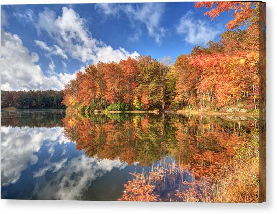 Autumn At Boley Lake Canvas Print