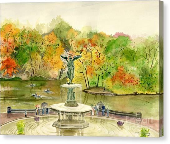 Autumn At Central Park Ny Canvas Print