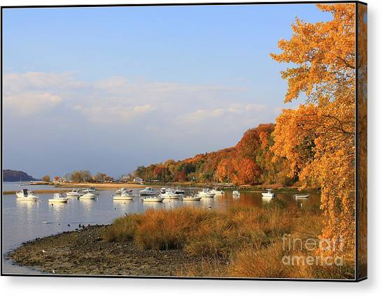 Autumn At Cold Spring Harbor Canvas Print