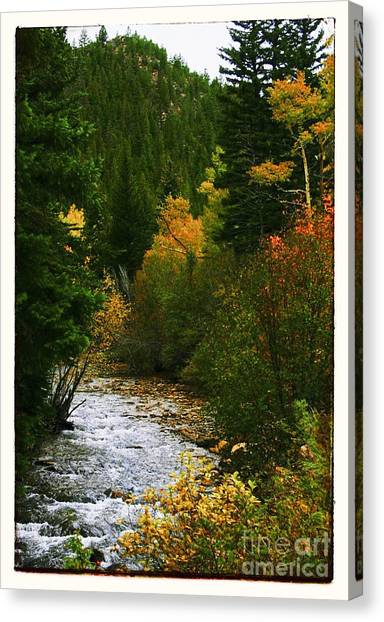 Rocky Mountains Canvas Print - Autumn At Deer Creek by Susan See