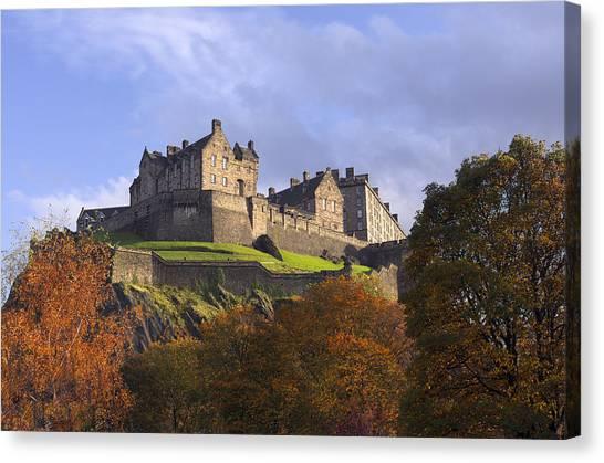 Autumn At Edinburgh Castle Canvas Print