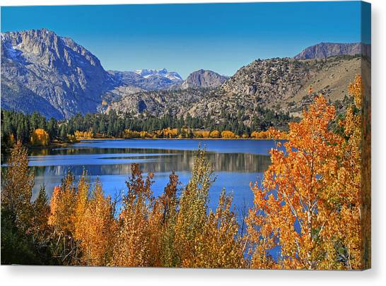 June Lake Canvas Print - Autumn At June Lake by Donna Kennedy