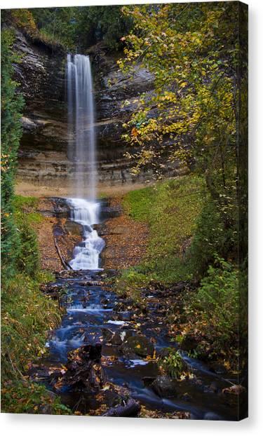 Autumn At Munising Falls Canvas Print