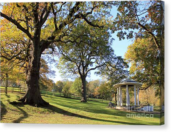 Autumn At Runnymede Uk Canvas Print