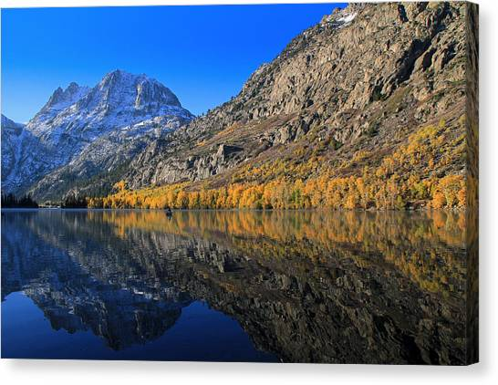 June Lake Canvas Print - Autumn At Silver Lake by Donna Kennedy