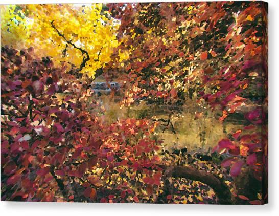 Autumn At The Park Canvas Print