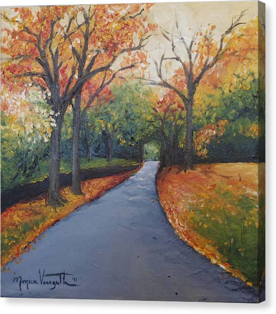 Autumn At Woodlawn Canvas Print by Monica Veraguth