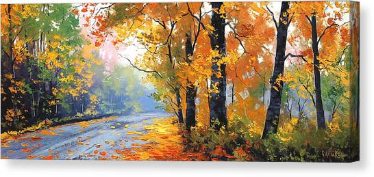 Maple Trees Canvas Print - Autumn Backlight by Graham Gercken