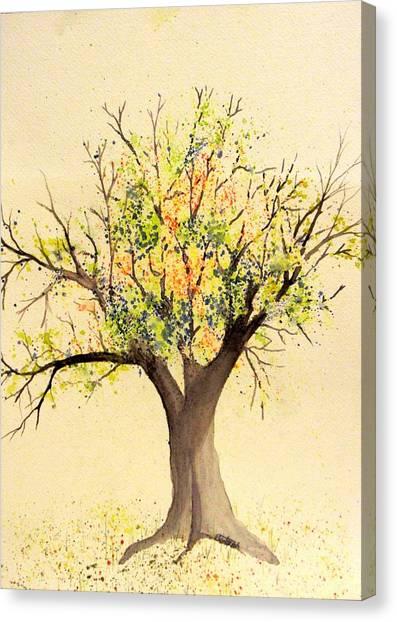 Autumn Backyard Tree Canvas Print