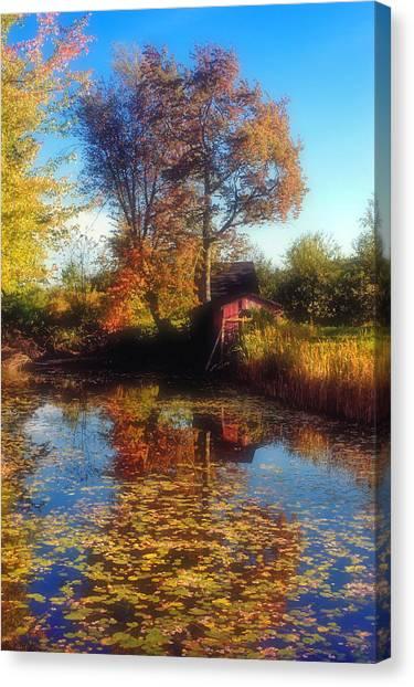 Autumn Barn Canvas Print by Joann Vitali