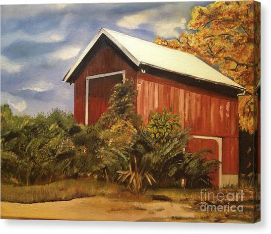 Autumn - Barn - Ohio Canvas Print