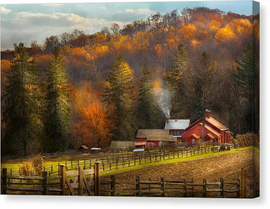 Autumn - Barn - The End Of A Season Canvas Print