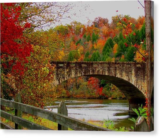 Autumn Bridge 1 Canvas Print