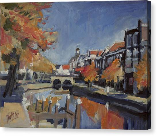 Briex Canvas Print - Autumn Canal Leiden by Nop Briex