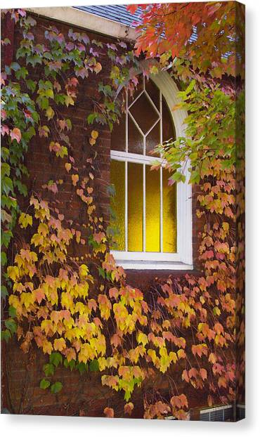 Autumn Church Canvas Print
