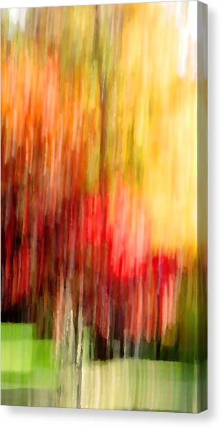 Autumn Colors In Abstract Canvas Print