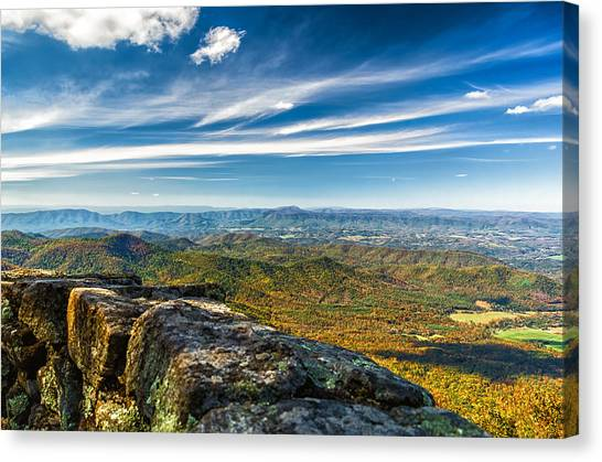 Autumn Colors In The Blue Ridge Mountains Canvas Print
