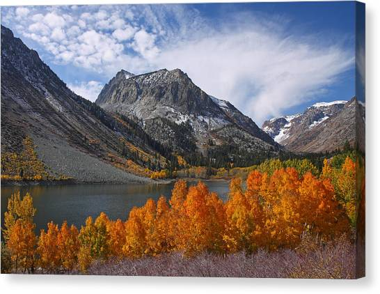 Autumn Colors In The Eastern Sierra's Lundy Canyon Canvas Print