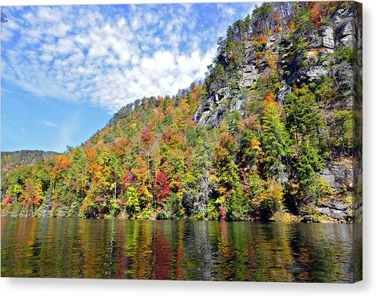 Autumn Colors On A Lake Canvas Print