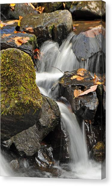 Crabtree Falls Canvas Print - Autumn Colors On Big Crabtree Creek by Bruce Gourley