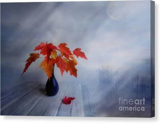 Painterly Canvas Print - Autumn Colors by Veikko Suikkanen