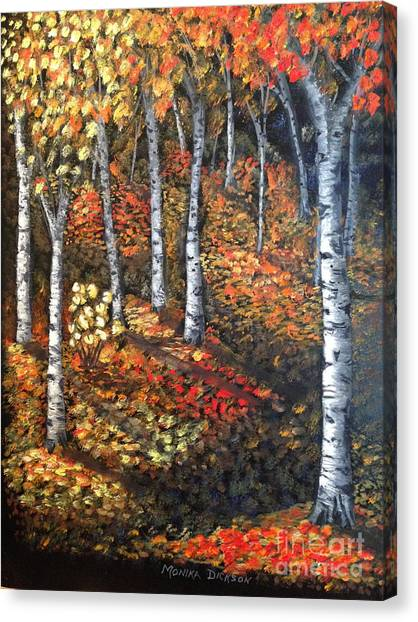 Autumn Colours By Monika Dickson Canvas Print