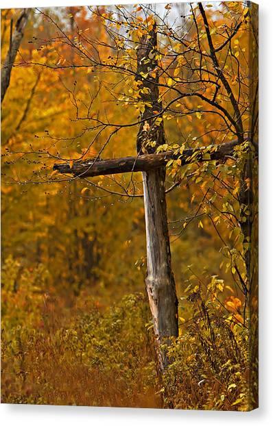 Autumn Cross Canvas Print