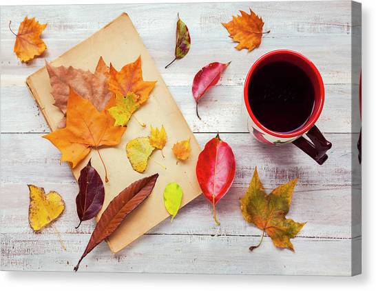 Autumn Cup Of Tea Canvas Print