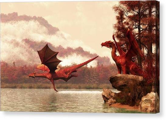 Autumn Dragons Canvas Print