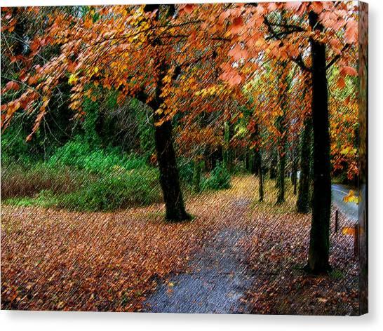 Autumn Entrance To Muckross House Killarney Canvas Print