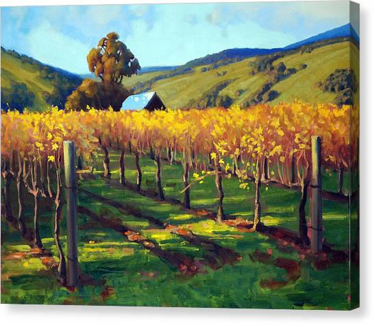 Salamanders Canvas Print - Autumn Evening Napa by Armand Cabrera