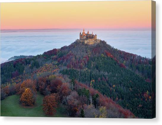 Castle Canvas Print - Autumn Fairytale by Daniel F.