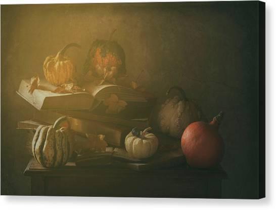Pumpkins Canvas Print - Autumn family Portrait by Delphine Devos