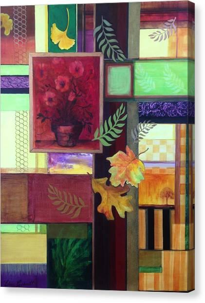 Autumn Faux Collage  Canvas Print