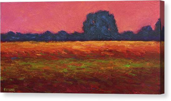 Autumn Field Dusk Canvas Print