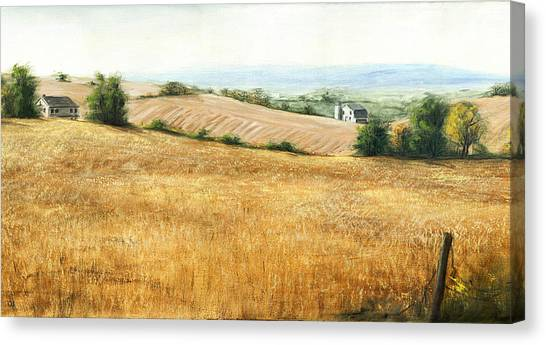 Autumn Fields Maryland Rt40 West Canvas Print by G Linsenmayer