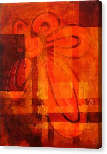 Plaid Canvas Print - Autumn Fire by Nancy Merkle